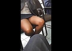 Upskirt porno: ebony big booty tube